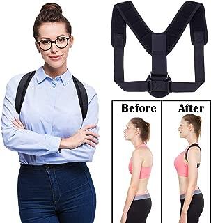 Giotto Posture Corrector for Women Men & Kids, Effective Adjustable Comfortable Upper Back Clavicle Support Brace Perfect for Spinal, Neck, Shoulder & Upper Back Pain Relief