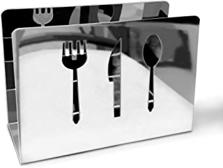 Decorative Stainless Steel Napkin Holder for Tables, Kitchen, Restaurant | Cute Metal Serviette Tissue Dispenser for Square Napkins | Sturdy and Durable | Great Housewarming or Hostess Gift Idea