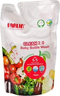 Farlin Clean 2.0 Baby Bottle Wash Refill Pack AF-10005, 700 ml