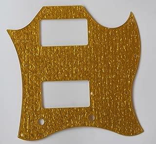 bangdan SG Full Face Guitar Pickguard Scratch Plate, 1pcs Gold Sparkle
