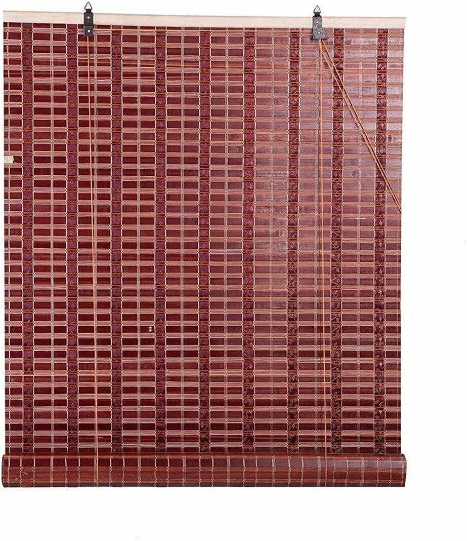 Bamboo Roll Fort Luxury goods Worth Mall Up Window Blind Shade for Blinds Burgundy Sun