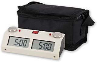 Chronos GX Digital Game Chess Clock - TOUCH - White with Carrying Bag