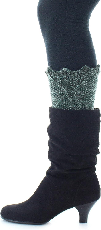 MeMoi Fiaba Diamond Knit Boot Toppers