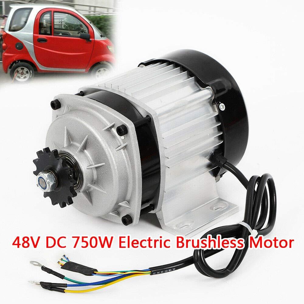 MOMOJA Motor eléctrico sin escobillas 48V 750W Velocidad Nominal ...