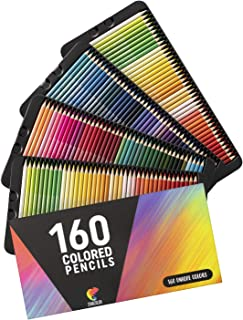 160 Lapices de Colores (Numerados) Zenacolor - Almacenamiento Fácil - Estuche Lapices dibujo profesional para Adultos y Niños - Ideal para Colorear, Mandalas Colorear Adultos, Material Escolar