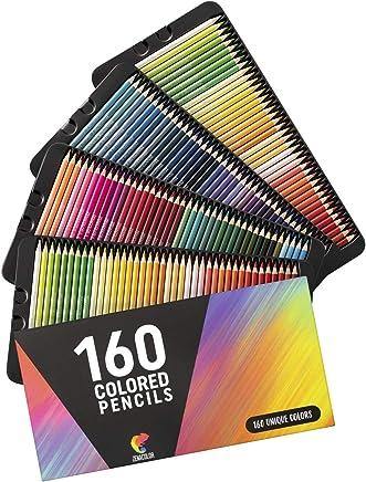 ⭐160 Crayons de Couleurs (Numérotés) Zenacolor - Rangement Facile - Coffret de Crayon de Couleurs Professionel Adultes et Enfants - Idéal pour Coloriage Adulte, Mandala, Fourniture et Rentrée Scolaire