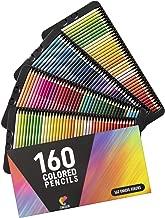 160 Crayons de Couleur (Numérotés) Zenacolor - Rangement Facile - Coffret de Crayon de Couleurs Professionel Adultes et Enfants - Idéal pour Coloriage Adulte, Mandala, Fourniture et Rentrée Scolaire