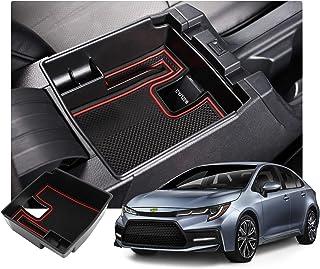RUIYA Corolla E210 2019 2020 Mittelkonsole Aufbewahrungsbox Aufbewahrungskiste Veranstalter Armlehne Box Armlehne Organizer Auto Armlehne Aufbewahrungsbox Autozubehör (Rot)