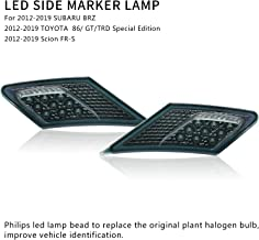 MFC PRO OEM SMD Led Technology ECE Side Marker Lamp For 2012-2019 TOYOTA 86 / GT86 / SUBARU BRZ/Scion FR-S (Smoke Lens with Amber Light)