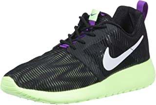 Nike Roshe One Flight Weight Casual Shoes 705486 003 Black/White/Ghost Green/Grape (5.5y)