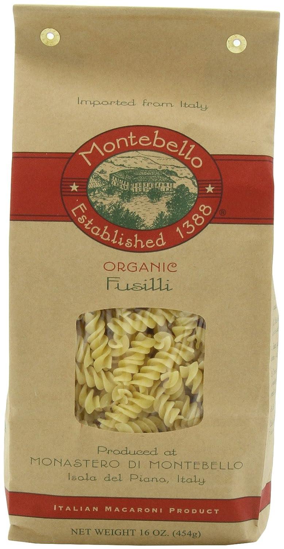 Montebello Organic Pasta Fusili 16-Ounce of Bag Colorado Springs Mall 5 Free Shipping New Pack