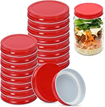 Canning Lids 16 Pack, 8 Wide Mouth & 8 Regular Mouth Canning Lids, Food-Grade Storage Caps for Canning Jars, Leak Proof an...