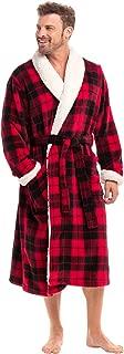 Men's Warm Fleece Robe, Plush Bathrobe