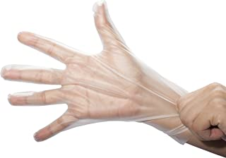 Stretch Poly Clear Gloves-Powder & Latex Free, Food Preparation Safe, Snug Fitting, Kitchen Cooking, 3.2 Mil, Food Service Gloves (Size SM Box of 200)