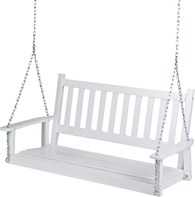 Shine Company 4216WT Maine Porch Swing, White