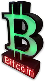 $124 » Sponsored Ad - Crypto Coin Display- Bitcoin Crypto Display Price Ticker LED Matrix Wi-Fi (White/Red LED)