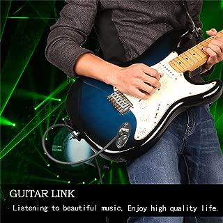 1 Metro XZANTE 6.35Mm A 6.35Mm Cable De Audio Macho A Macho Para Guitarra Mezcladora El/éctrica Cable Est/éreo Azul Plata