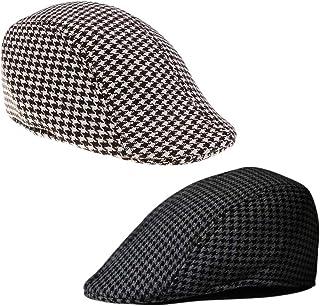 freneci 3 X Boys Child Girls Flat Cap Tweed Check Herringbone Newsboy Peaky Hat