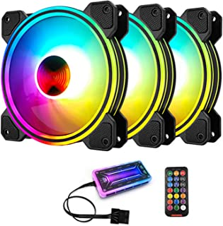 Sponsored Ad – 3 Pack 120mm RGB Case Fans, Quiet Computer Cooling PC Fans, Music Rhythm 5V ARGB Addressable Motherboard SY...