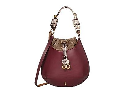 THACKER Bo Drawstring (Cardinal/Python) Handbags