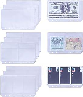 Antner A6 6 Ring Binder Pockets Personal Planner Notebook Refills Filler Organizer Envelope Bill Pouch Name Card Business ...