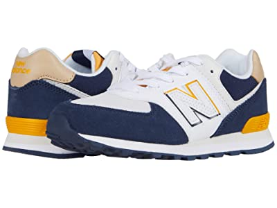 New Balance Kids 574 Split Sail (Little Kid) (Natural Indigo/Chromatic Yellow) Boy
