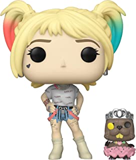 Funko - Figurine DC Birds Of Prey - Harley Quinn Black With Beaver Pop 10cm - 0889698443784