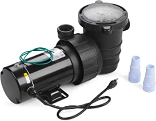 SUNCOO Swimming Pool Pump Electric 1-1/2 HP 110-120V Portable Pool Pump Motor Above Ground Pressure Water Filter Black