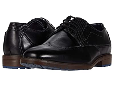 Stacy Adams Kids Rooney Wing Tip Oxford (Little Kid/Big Kid) (Black) Boy