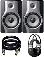 M-Audio BX8 Carbon Pair Speaker Studio Monitors for Music Production and Mixing. With free AKG k44 and 2 XLR Cables.
