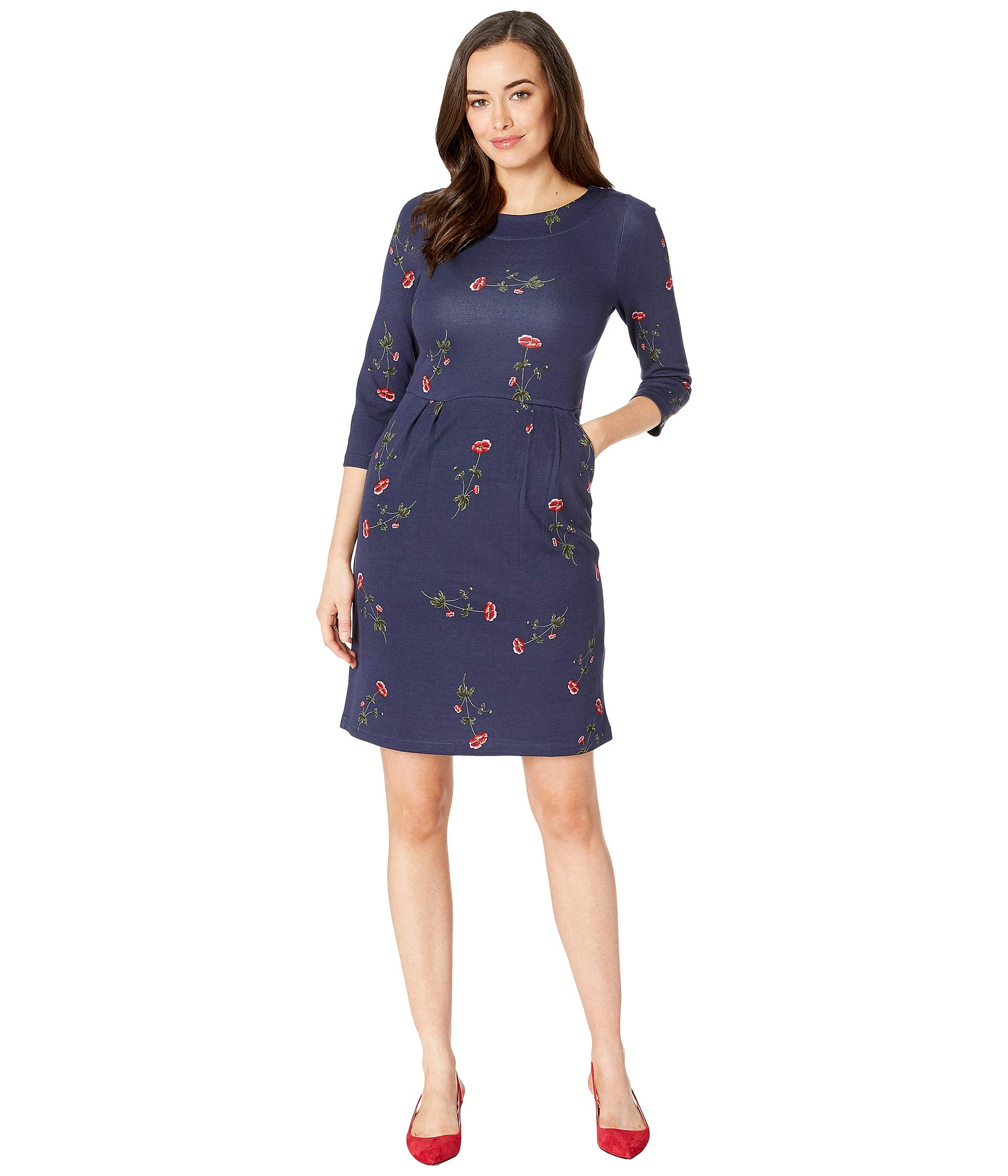 Dress Sleeves With Beth34 Joules Ponte 4 3 Navy Floral YqgEAx1w