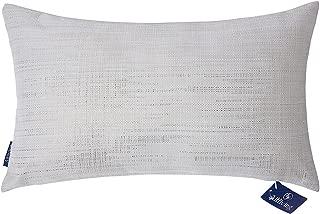 Aitliving Throw Pillow Cover for Couch Sofa Decor Gold Sheen Metallic Print,Creamy Warm Linen Blend,Lumbar Pillow Sham Accent Pillowcase 30X50cm, 12X20inch
