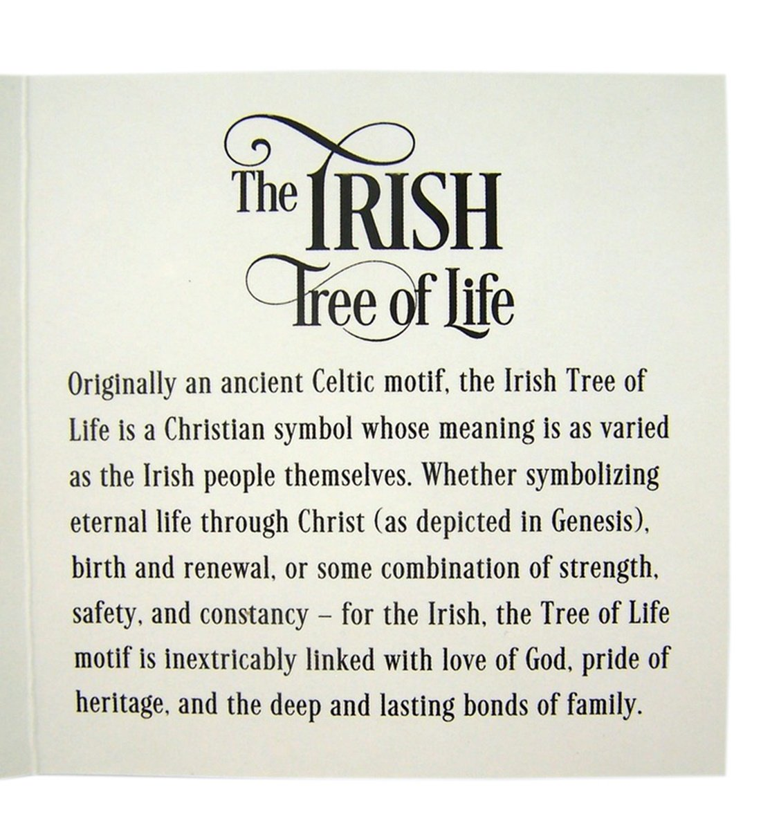 Buy The Irish Tree of Life Wood Toned Resin Celtic Ornament with ...