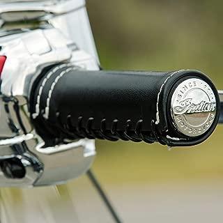 Indian Motorcycle Genuine Leather Grip Wraps - Black