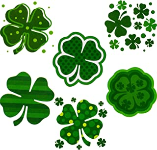 Zhanmai 288 Pieces St. Patrick's Day Shamrock Patterned Tattoos, 6 Designs