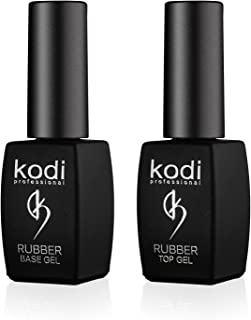 Professional Rubber Top & Base Gel Set By Kodi | 8ml 0.27 oz| Soak Off, Polish Fingernails Coat Kit | For Long Lasting Nails Layer | Easy To Use, Non-Toxic & Scentless | Cure Under LED Or UV Lamp