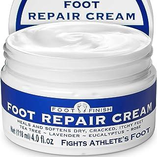 Foot Finish Repair Cream for Athletes Foot Treatment - 4oz Foot Cream for Dry Cracked Feet - Tea Tree Toenail Treatment