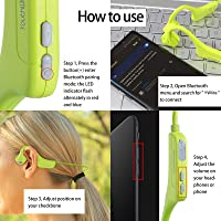 YouthWhisper Bone Conduction Headphones Bluetooth - Wireless Open-Ear Headset with Microphones, Titanium Lightweight Sweat-Proof for Running Driving Cycling Meeting - Green