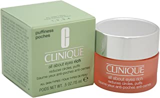 Clinique All About Eyes Rich for Women - 0.5 oz Eye Cream, 15 Milliliter