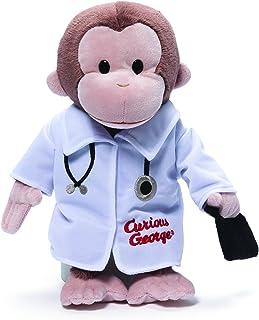 "GUND Curious George Doctor Monkey Stuffed Animal Plush, 13"""
