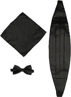 para hombre Black Burgundy /& Gold Stripes Est/ándar Faj/ín KOOELLE