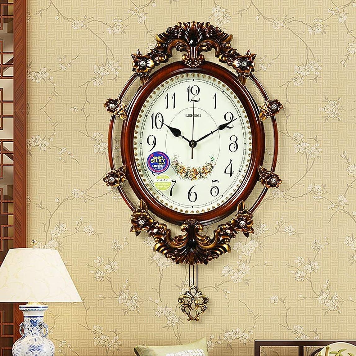 暗殺する交通胴体壁時計ミュートリビングルームホームレトロ大振り子時計クリエイティブガーデンクォーツ時計 SHWSM (Color : B)