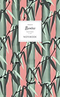 Bamboo Notebook - Ruled Pages - 5x8 - Premium: (Terracotta Edition) Notebook 96 ruled/lined pages (5x8 inches / 12.7x20.3c...