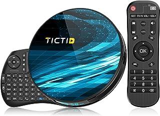 TICTID Android 10.0 TV Box T8 MAX【4G+128G】con Mini Teclado inalámbirco con touchpad RK3318 Quad-Core 64bit WiFi-Dual 5G/2....