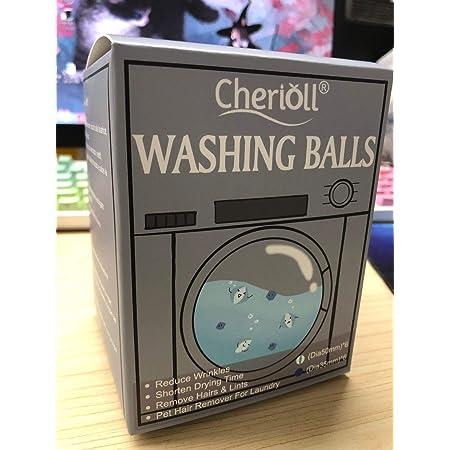 Lot de 12 balles de lavage, boules de lavage, boules de lavage, épilateur pour le linge, les poils d'animaux de compagnie, balles de séchage réutilisables