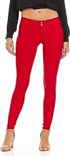 Women's soft stretchy white black red navy khaki pants