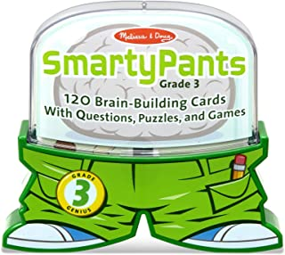 Melissa & Doug Smarty Pants 3rd Grade Card Set - 120 Educational, Brain-Building Questions, Puzzles, and Games