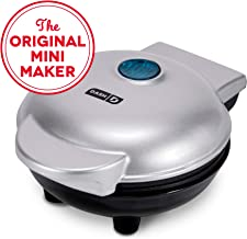 Dash DMS001SL Mini Maker Electric Round Griddle for Individual Pancakes, Cookies, Eggs..