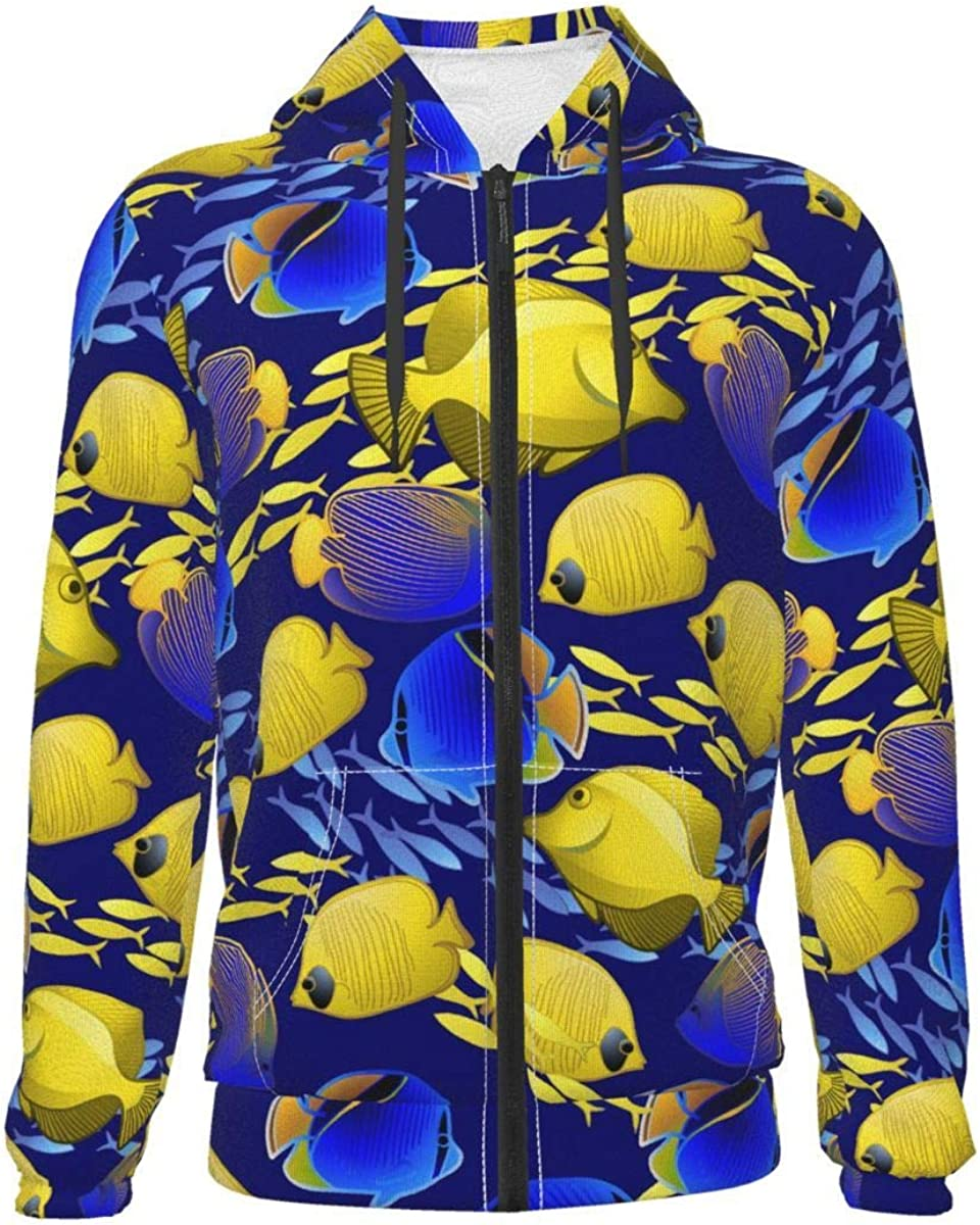 X-Peach New Free Shipping Tropical Fish Group Max 86% OFF Kids Hoodie Full-Zip Youth Fleece