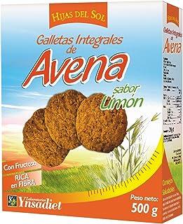 Hijas Del Sol Galletas Integrales de Avena, Sabor limón -
